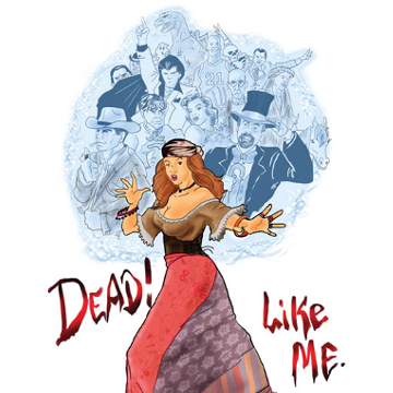 "Artwork for Jest Murder Mystery Co. show ""Dead Like Me"""
