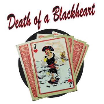 "Artwork for Jest Murder Mystery Co. show ""Death of a Blackheart"""